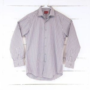 Alfani Fitted Performance Dress Shirt Purple Small